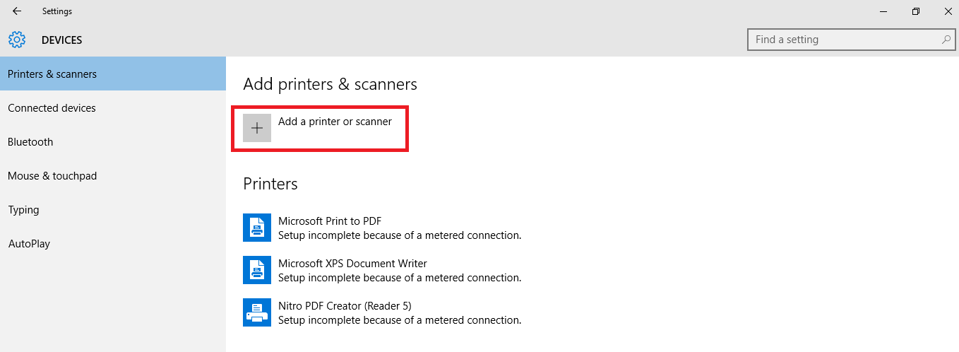 add printer and scanner