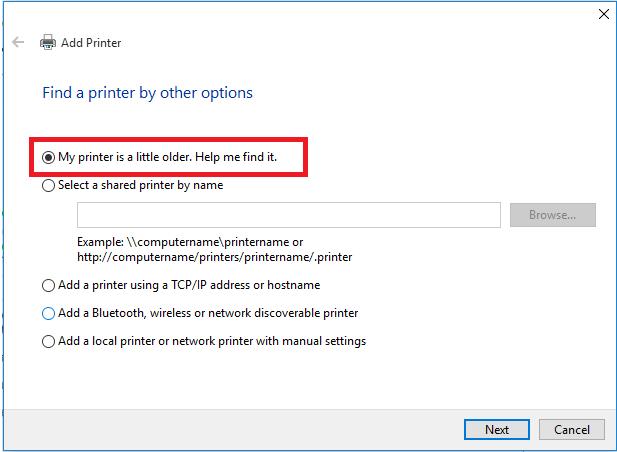 find printer